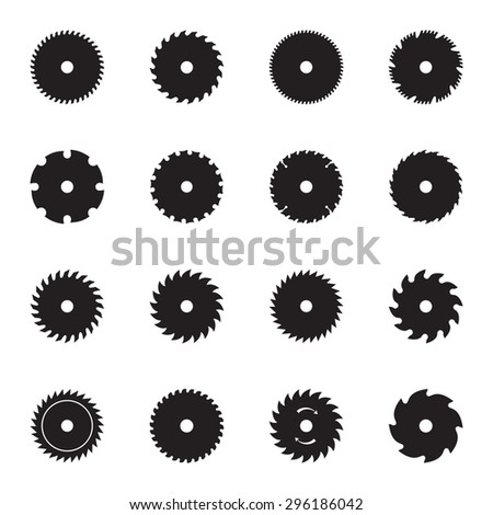 circular saw blade icons
