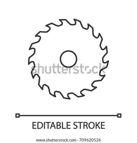 circular saw blade linear icon