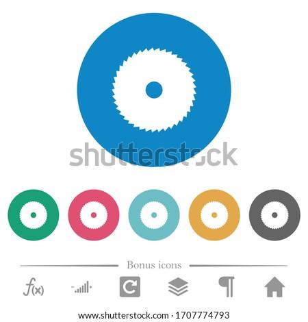 circular saw flat white icons