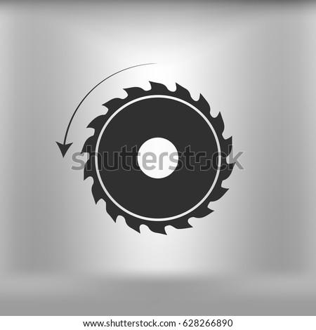 circular saw. sawmill vector icon