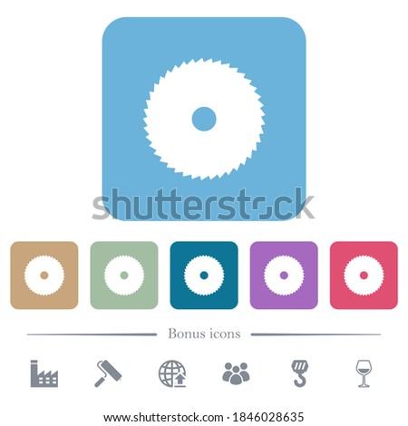 circular saw white flat icons