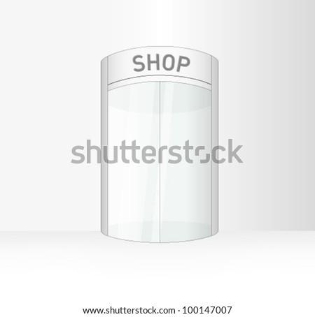 circular sliding door vector eps10