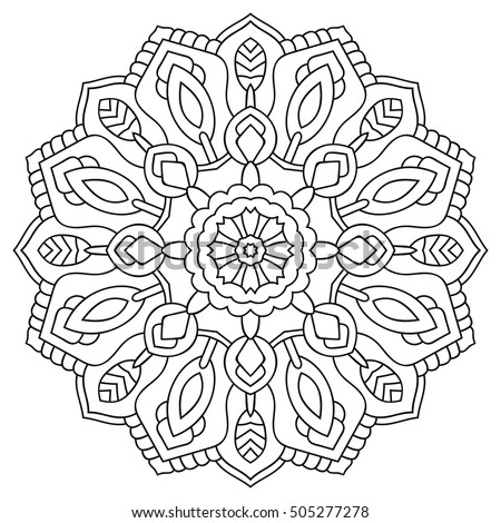 circular symmetric mandala on