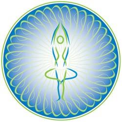 Circular vector logo for yoga  studio - 1.