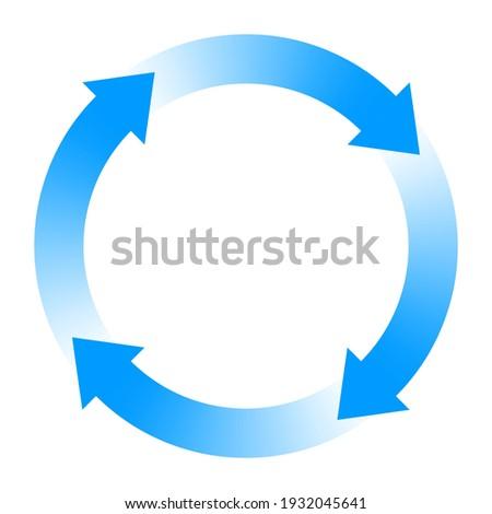 Circulation image. Rotation arrow Symbol. Design element. Stock photo ©