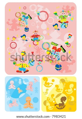 circus and childhood - stock vector