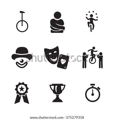 circus and juggling icons