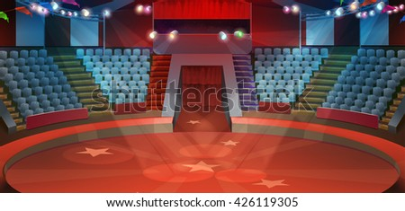 circus arena  vector background