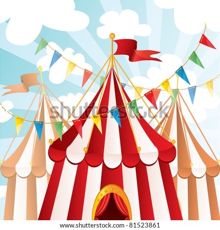 Circus background, vector