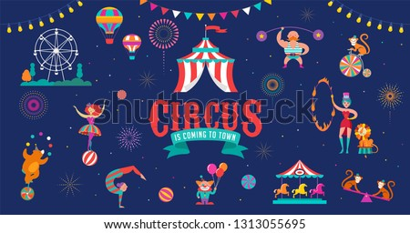 circus banner and background