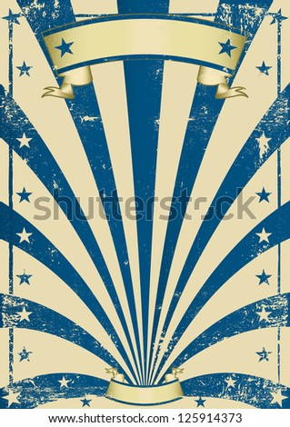 circus blue vintage poster. A vintage blue poster for your show