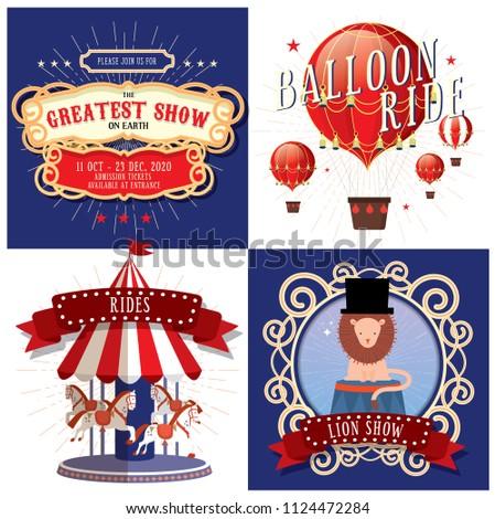 circus/carnival/fairground design template vector/illustration