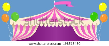 circus carnival tent banner