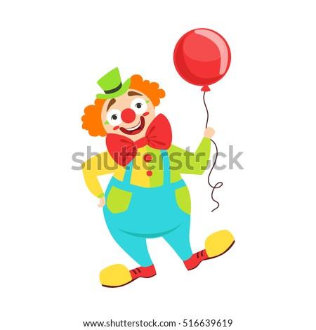 circus clown artist in classic