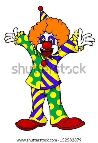 circus clown in cartoon style