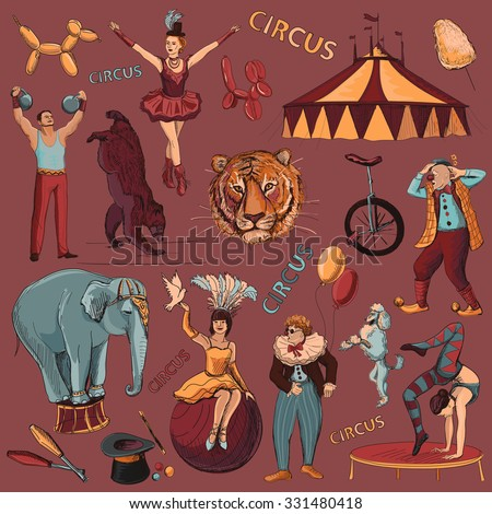 circus. collection of hand...