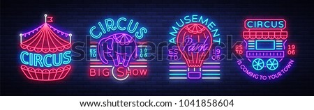 circus collection of neon signs