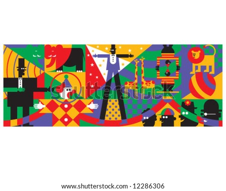 Circus Crazy - stock vector