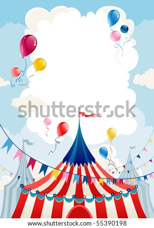 Circus day - stock vector