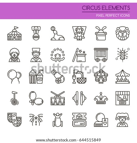 circus elements   thin line and