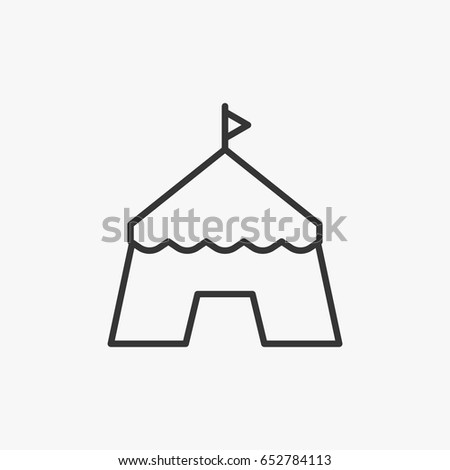 circus  icon illustration isolated sign symbol