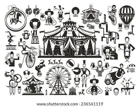 Circus. Icons set