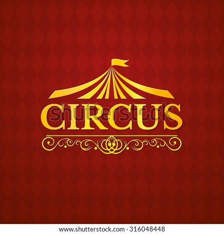 circus logo  vintage badge
