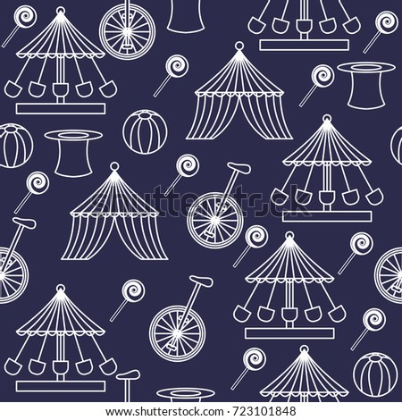 circus ornament seamless pattern. vector illustration