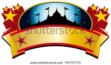circus tent banner. A circus tent banner for your advertising