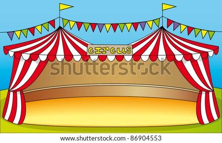 Circus tent illustrati...