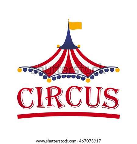 circus tent logo template....