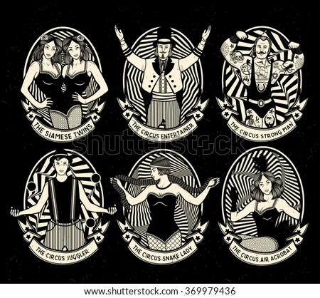 circus. vintage icons...