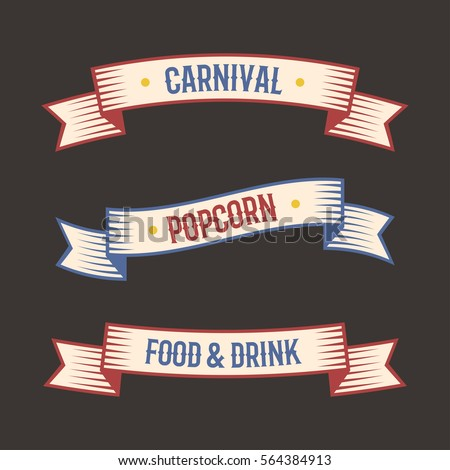 circus vintage label banner...