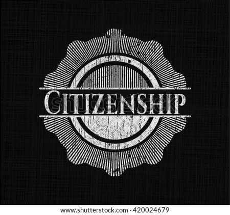 Citizenship chalkboard emblem