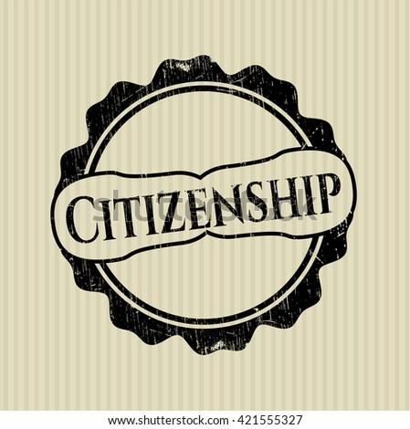 Citizenship grunge style stamp