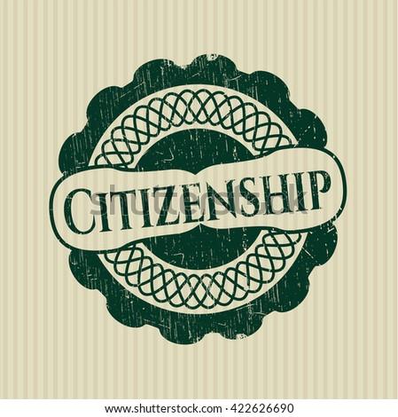 Citizenship rubber seal