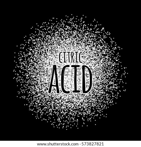 citric acid as a white powder