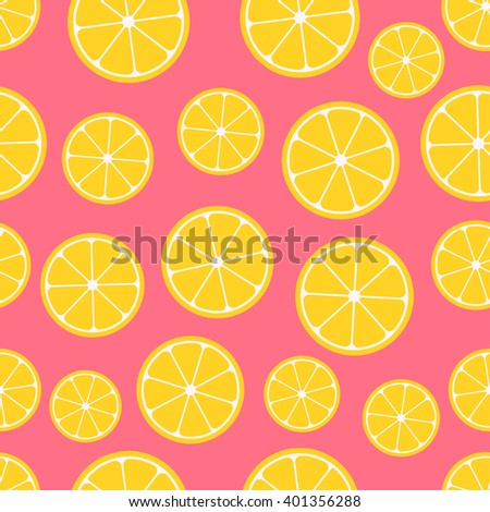 citrus seamless pattern lemon
