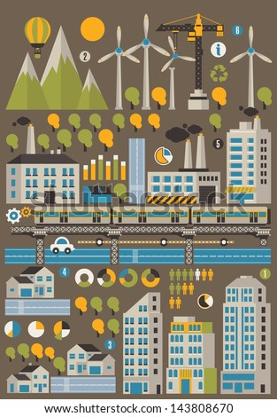 city and ecology info graphic