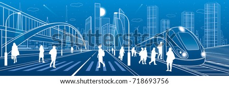 city and transport illustration....
