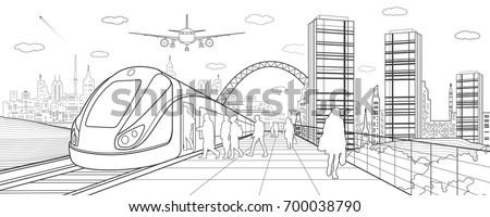 city and transport illustration