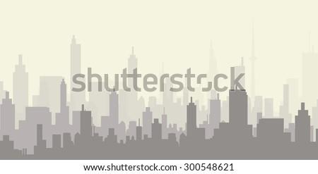 City at Early Morning