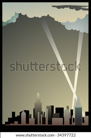 City background. An additional format of EPS