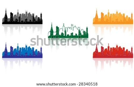 city background five color edition