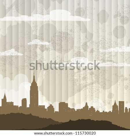 City background. Vector illustration