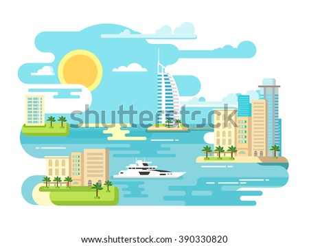city beach design flat