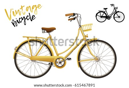 city bicycle. vintage style in...