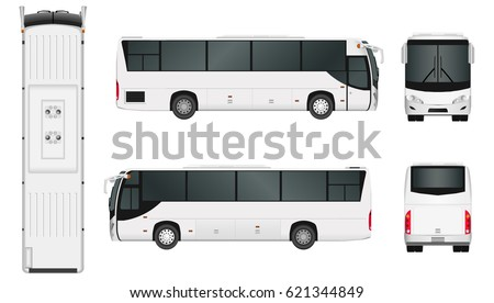 City bus template. Passenger transport. Vector illustration eps 10 isolated on white background