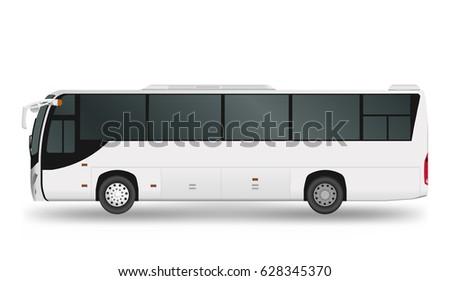 city bus template passenger transport vector illustration eps 10
