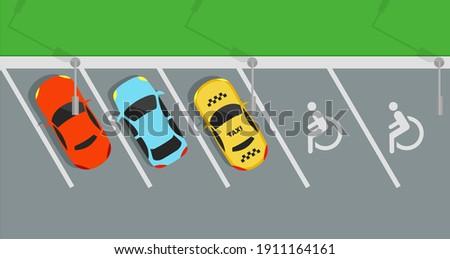 city car park with a set of